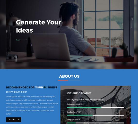 蓝黑大气商务公司网站模板_亿码酷站网站源码下载