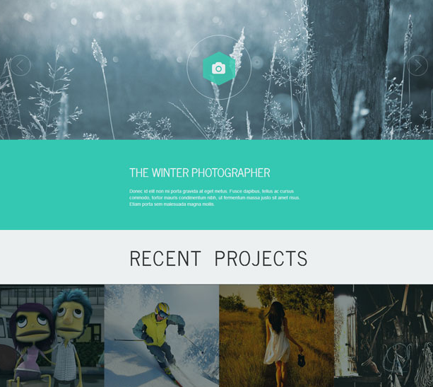 绿色摄影相册展示bootstrap模板_亿码酷站
