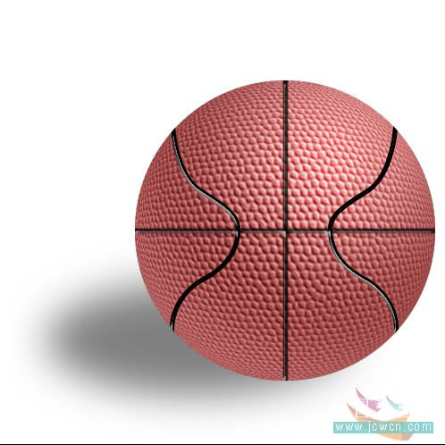 Photoshop滤镜制作逼真的篮球_亿码酷站___亿码酷站平面设计教程插图23