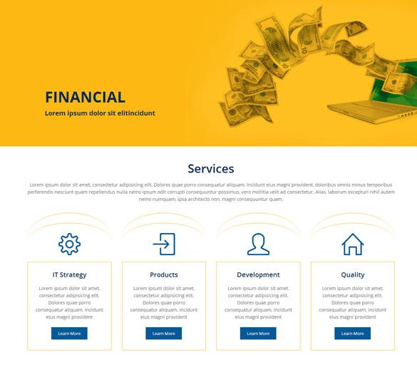 黄色资金银行存管网站模板_企业官网模板