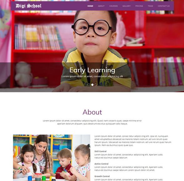国外育儿网站静态模板_html网站模板