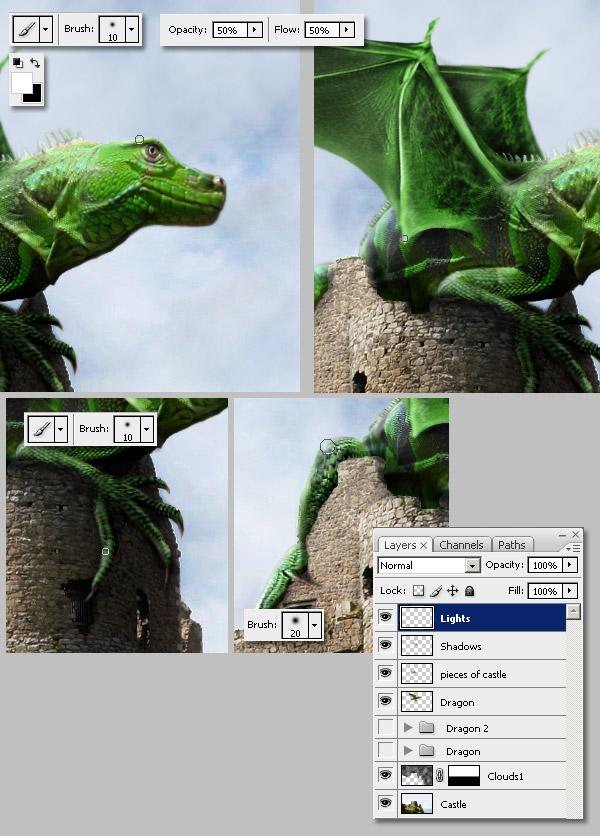 Photoshop图像合成实例:栩栩如生的翼龙_亿码酷站___亿码酷站平面设计教程插图18