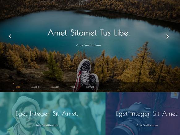 宽屏大气全球旅游HTML模板_企业官网模板