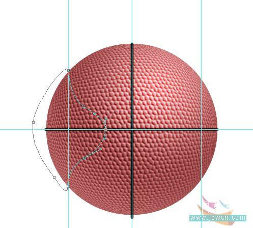 Photoshop滤镜制作逼真的篮球_亿码酷站___亿码酷站平面设计教程插图14
