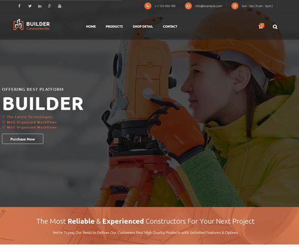专业建筑勘察设计网站模板_企业官网模板