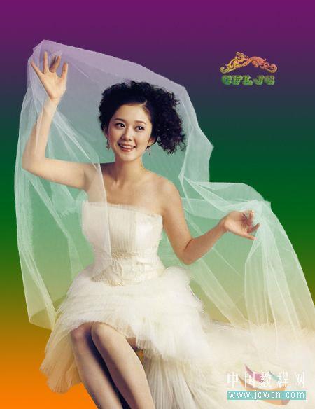 Photoshop复杂背景抠婚纱教程_亿码酷站___亿码酷站平面设计教程插图1