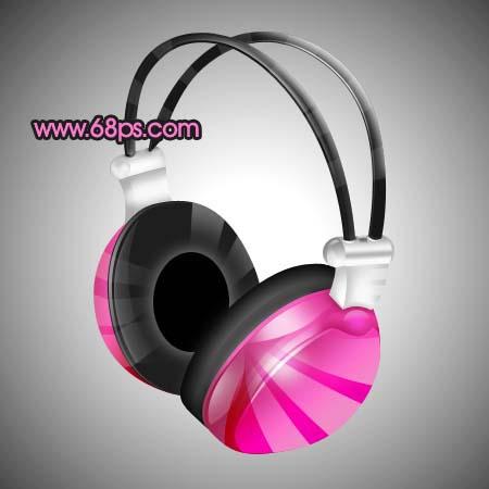 Photoshop制作一款时尚的耳机_亿码酷站___亿码酷站平面设计教程插图24