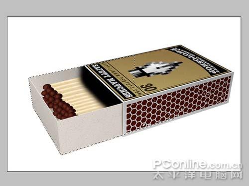 PS制作逼真的3D火柴盒_亿码酷站___亿码酷站平面设计教程插图11