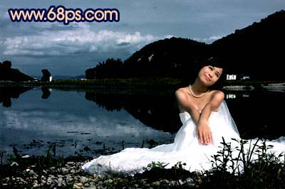 Photoshop快速打造暗调夜景婚片_亿码酷站___亿码酷站平面设计教程插图5