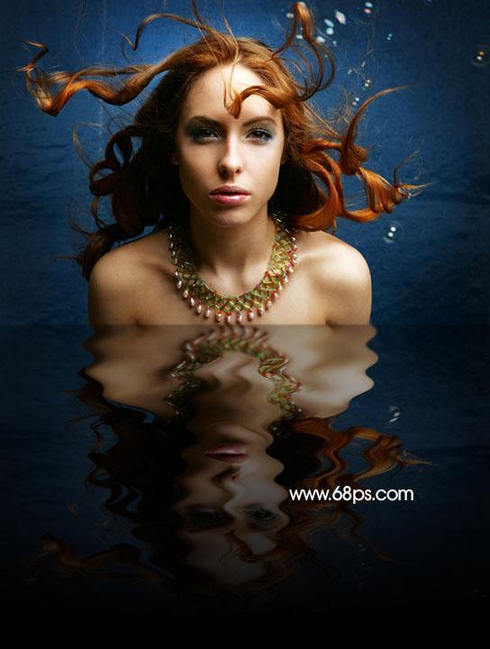 Photoshop制作逼真的水中倒影_亿码酷站___亿码酷站平面设计教程插图1