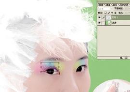 Photoshop给美女加上彩妆及头饰_亿码酷站___亿码酷站平面设计教程插图9