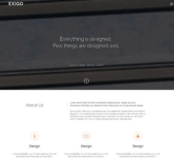 格子素色简洁工业设计官网模板_html网站模板