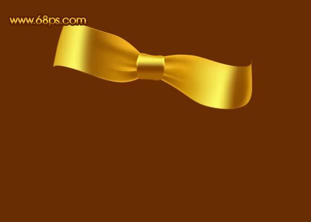 Photoshop制作漂亮的金色礼品结_亿码酷站___亿码酷站平面设计教程插图12