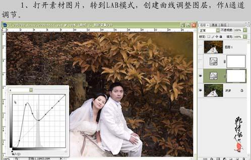 psd在Lab模式下快速调整照片的金色调_亿码酷站___亿码酷站平面设计教程插图2