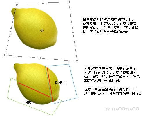 PS鼠绘逼真的柠檬_亿码酷站___亿码酷站平面设计教程插图8