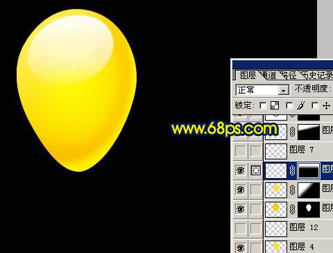 Photoshop制作漂亮的彩色气球_亿码酷站___亿码酷站平面设计教程插图13