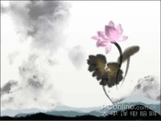 Photoshop制作一张水墨艺术画_亿码酷站___亿码酷站平面设计教程插图16