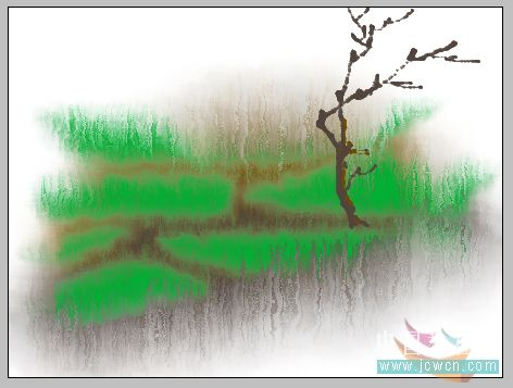 PS鼠绘水彩画效果教程_亿码酷站___亿码酷站平面设计教程插图6