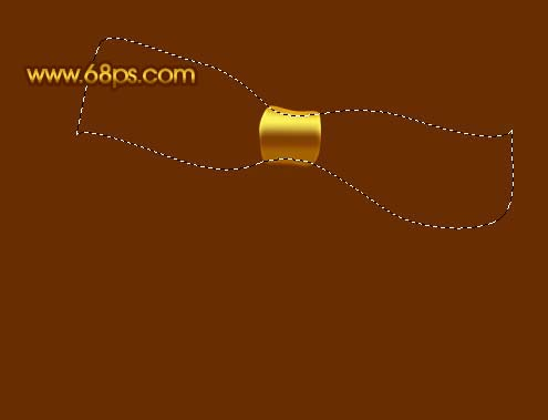 Photoshop制作漂亮的金色礼品结_亿码酷站___亿码酷站平面设计教程插图7