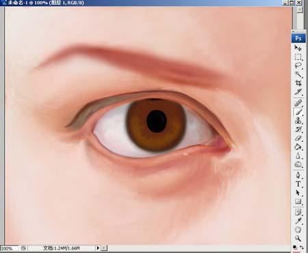 Photoshop精细鼠绘人物眼睛_亿码酷站___亿码酷站平面设计教程插图5