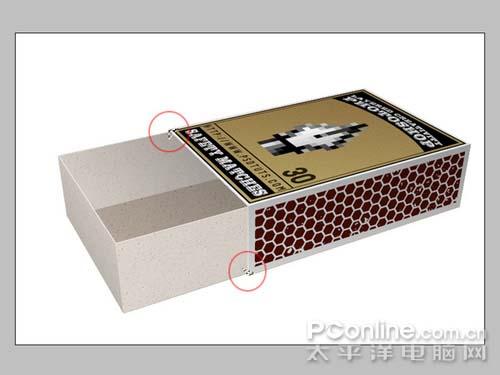 PS制作逼真的3D火柴盒_亿码酷站___亿码酷站平面设计教程插图7