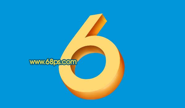 Photoshop打造黄金3D特效字_亿码酷站___亿码酷站平面设计教程插图8