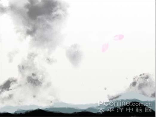 Photoshop制作一张水墨艺术画_亿码酷站___亿码酷站平面设计教程插图11