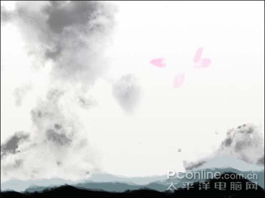 Photoshop制作一张水墨艺术画_亿码酷站___亿码酷站平面设计教程插图12