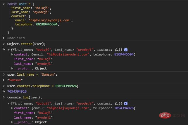 了解JavaScript中Object.freeze()与const之间的区别_编程技术_亿码酷站插图5