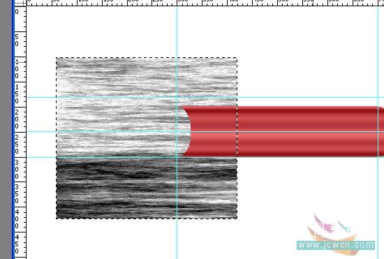 PS绘制一只红色铅笔_亿码酷站___亿码酷站平面设计教程插图21