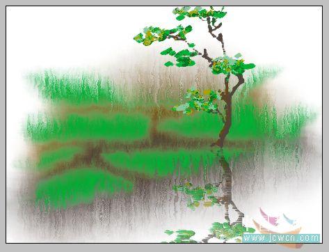 PS鼠绘水彩画效果教程_亿码酷站___亿码酷站平面设计教程插图8