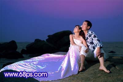 Photoshop打造梦幻色彩的夜景婚纱照_亿码酷站___亿码酷站平面设计教程插图5