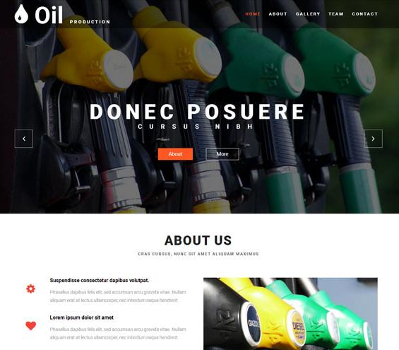绿色石油生产工业网站模板_企业官网模板