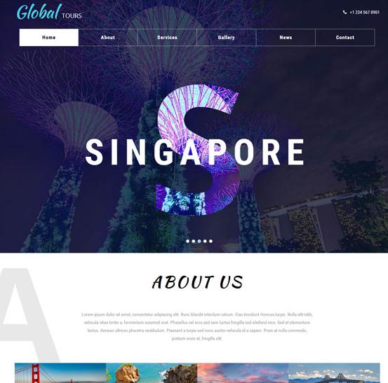 全球旅游团队公司网站模板_wordpress主题