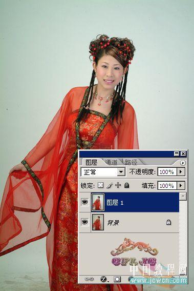 Photoshop教程:红色婚纱抠图技巧_亿码酷站___亿码酷站平面设计教程插图2
