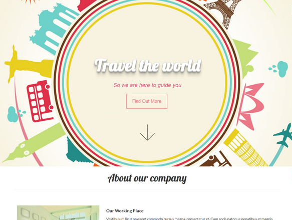 Travel全球旅行地标模板_wordpress主题