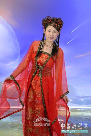 Photoshop教程:红色婚纱抠图技巧_亿码酷站___亿码酷站平面设计教程插图1