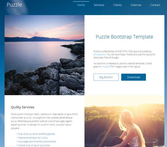 蓝色小清新个人博客网站模板_html网站模板