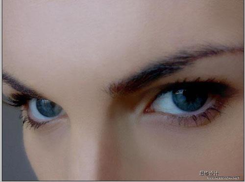 Photoshop打造一双完美的眼睛_亿码酷站___亿码酷站平面设计教程插图2
