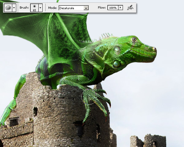 Photoshop图像合成实例:栩栩如生的翼龙_亿码酷站___亿码酷站平面设计教程插图11