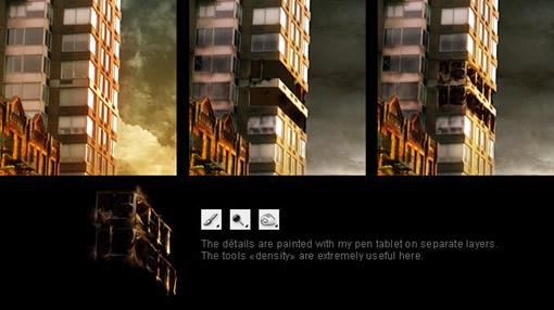 用Photoshop打造一座灾难城市_亿码酷站___亿码酷站平面设计教程插图5