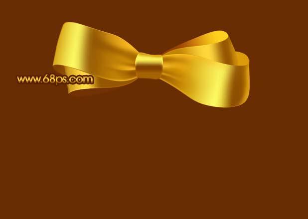 Photoshop制作漂亮的金色礼品结_亿码酷站___亿码酷站平面设计教程插图15