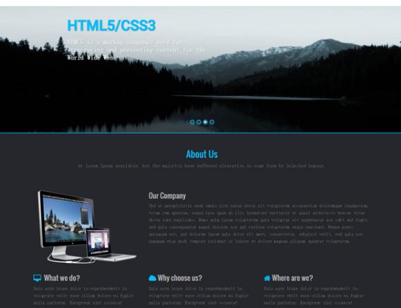 黑色风格建站公司HTML5前端模板_帝国cms模板