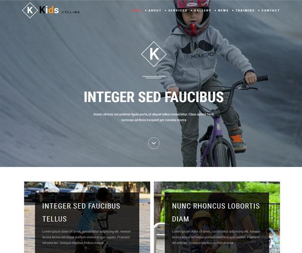 专业儿童自行车公司网站模板_帝国cms模板