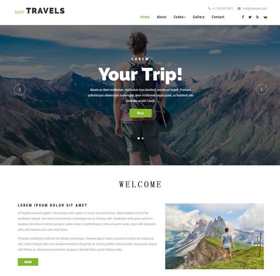 徒步旅行公司HTML模板免费下载_php网站模板