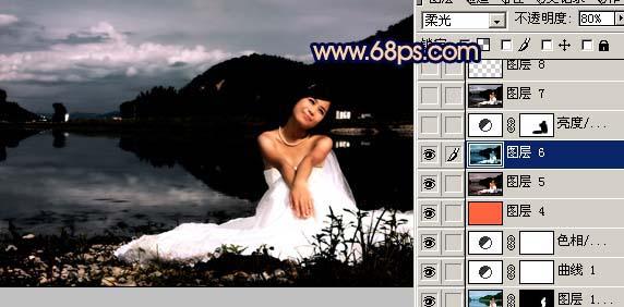 Photoshop快速打造暗调夜景婚片_亿码酷站___亿码酷站平面设计教程插图13