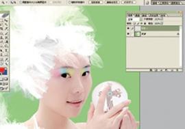 Photoshop给美女加上彩妆及头饰_亿码酷站___亿码酷站平面设计教程插图8