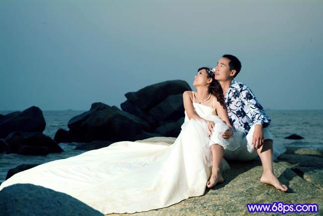 Photoshop打造梦幻色彩的夜景婚纱照_亿码酷站___亿码酷站平面设计教程插图