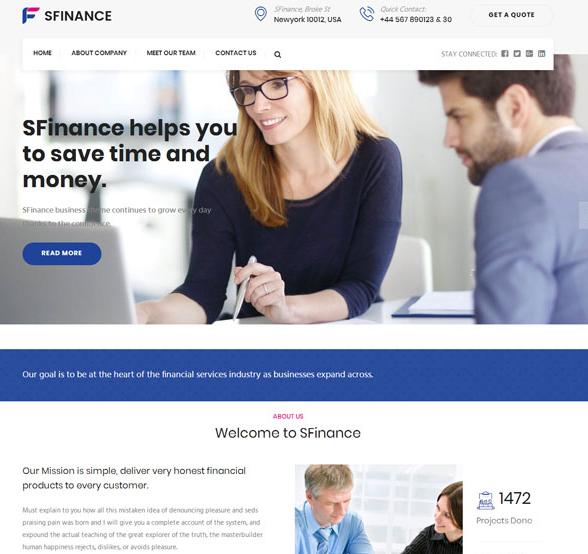 蓝紫色企业博客网站模板_php网站模板
