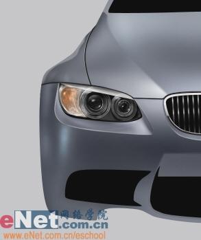 Photoshop鼠绘实例:宝马BMWM3_亿码酷站___亿码酷站平面设计教程插图17